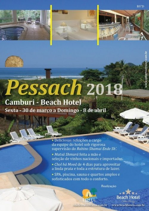 Pessach 2018 no Camburi Beach Hotel, com a Eshel Eventos